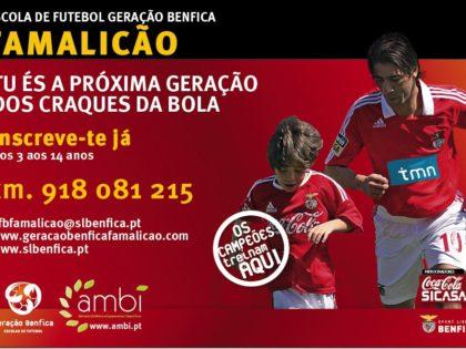 Apoio às escolas de futebol Geração Benfica de Famalicão e Cabeceiras de Basto